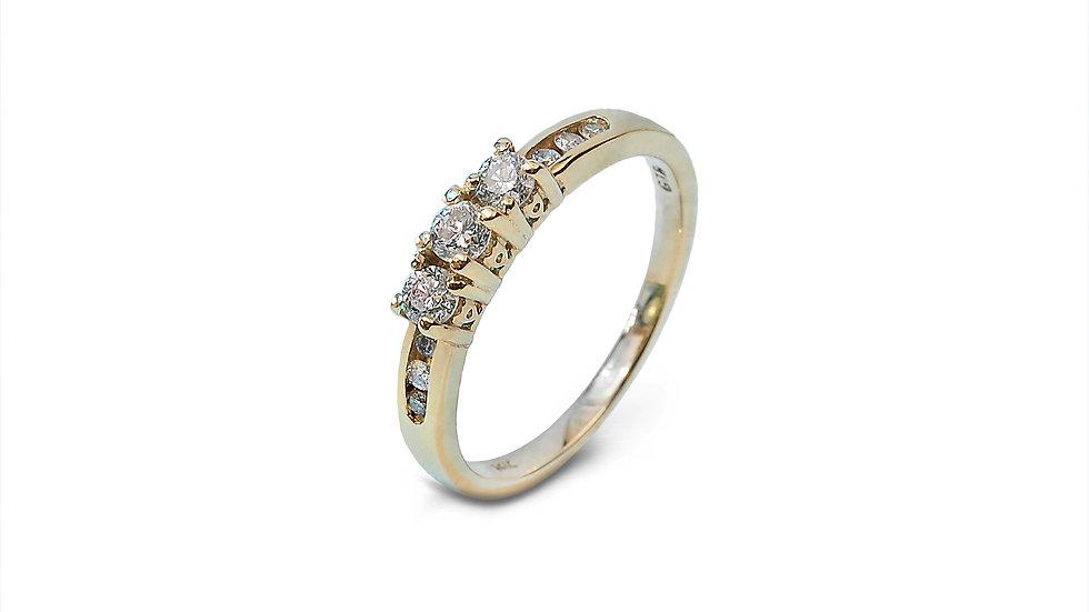 Three Diamond Accent Ring