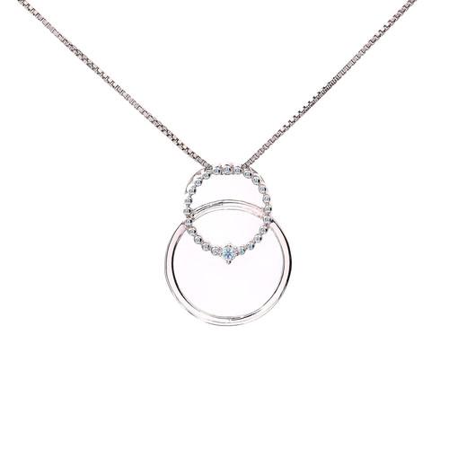 Circle in Circle Diamond Pendent
