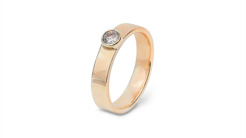 Bazel-Set Diamond Ring