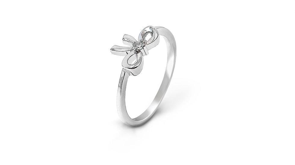 Small Ribbon Diamond Ring