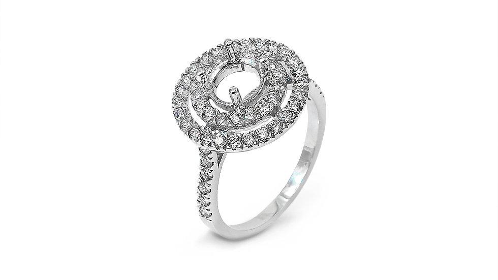 Hollow Circles Diamond ring