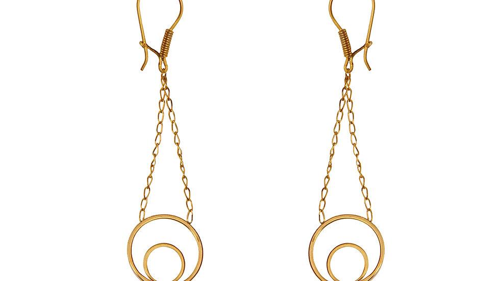 Yellow Gold Dangling Earring