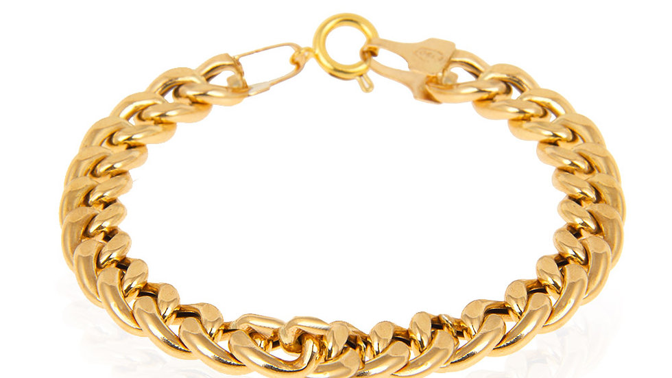 Yellow Gold Curb link Bracelet16