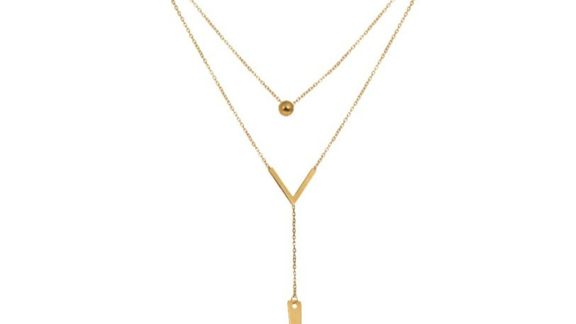 Two Layer Gold Necklace