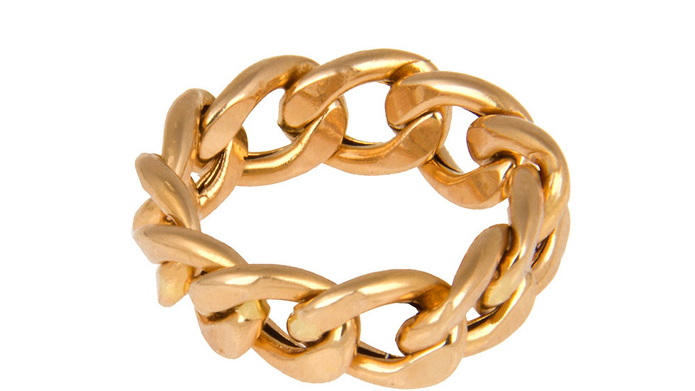 Yellow Gold Curb LinksRing