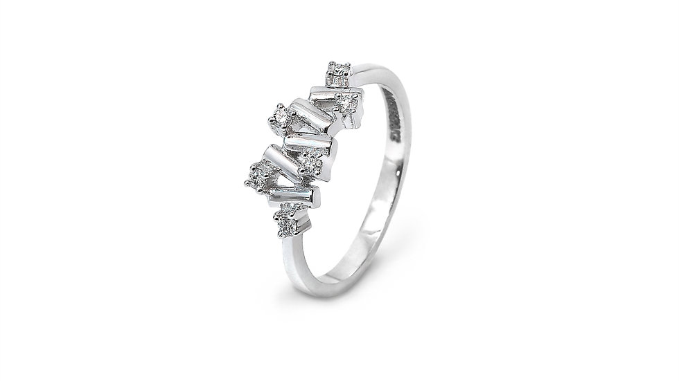 Zigzag Style Diamond Ring