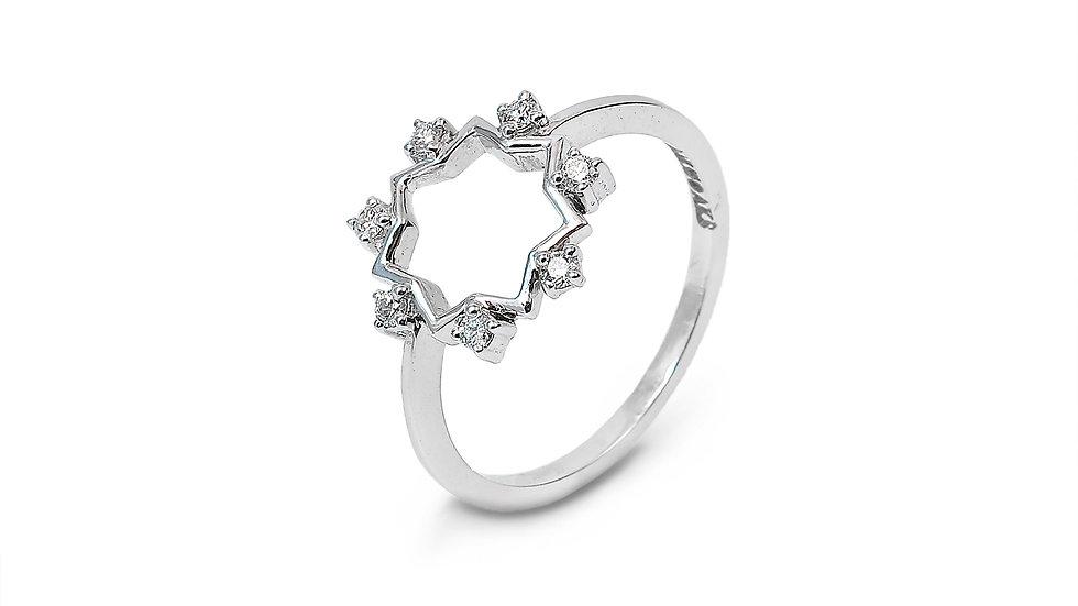 Hexagonal Shape Diamond Ring