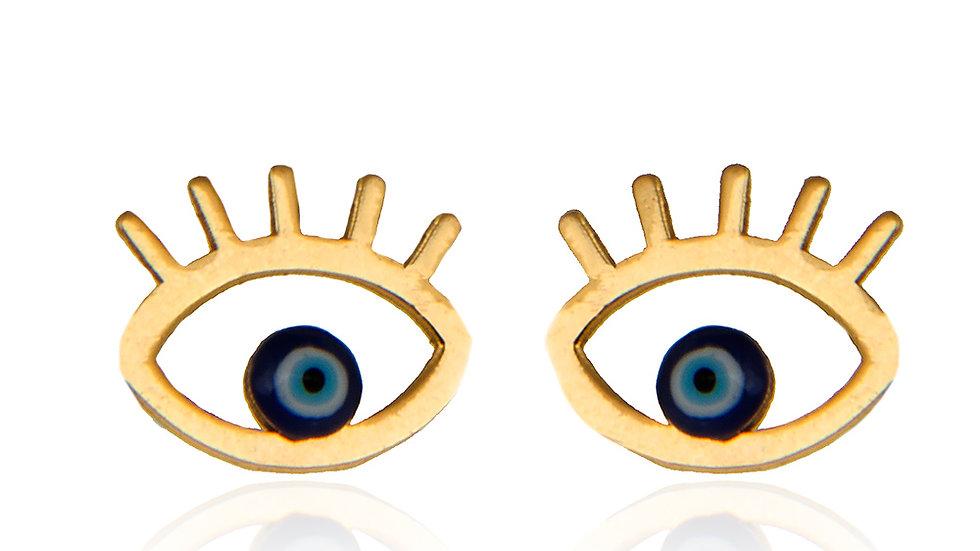 Yellow Gold Eye Earrings