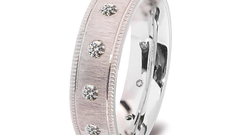 White Gold Eternity Diamond Men's Ring