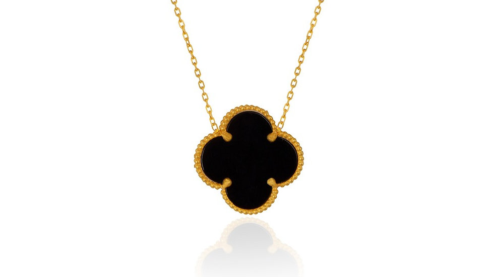 Yellow gold Clover style necklace