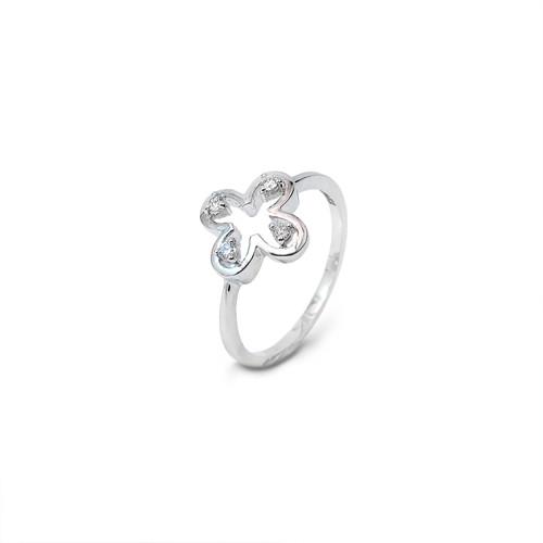 Clover Design Diamond Ring