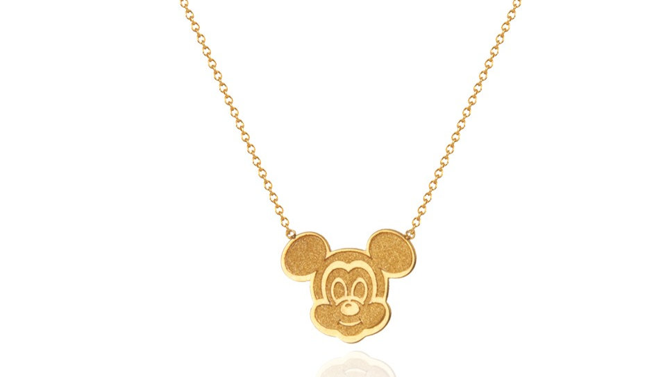 Yellow Gold Micky Mouse Necklace