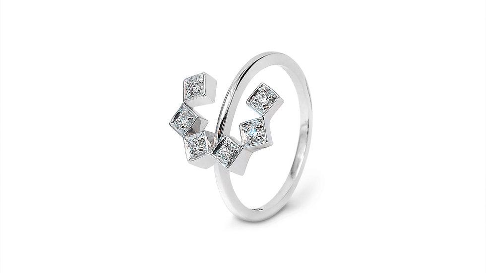 C Style Diamond Ring