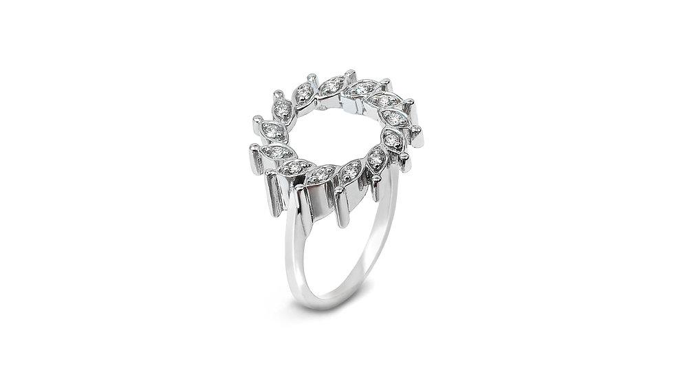 Meteorite Diamond Ring