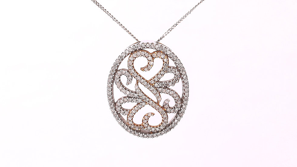 Two Tones Gold Pendent
