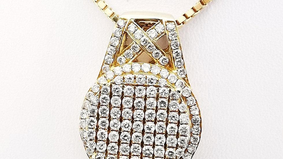 Yellow Gold Diamond Pendant.