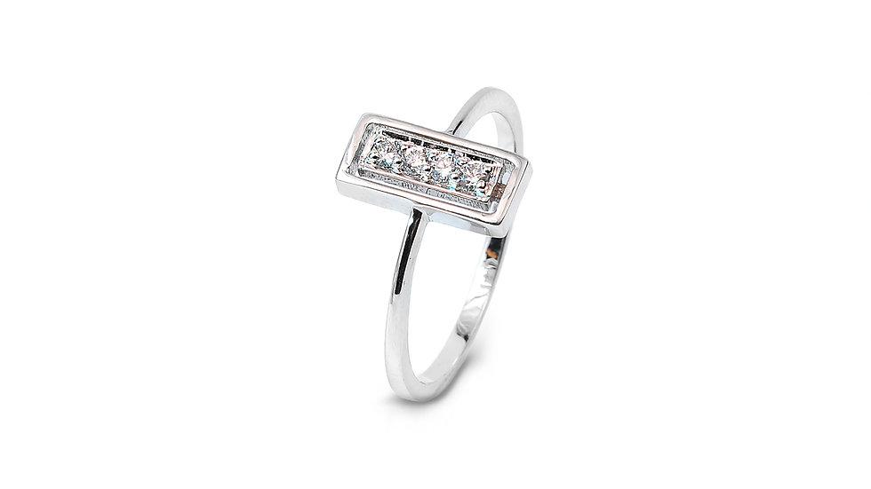 Rectangular Diamond Ring