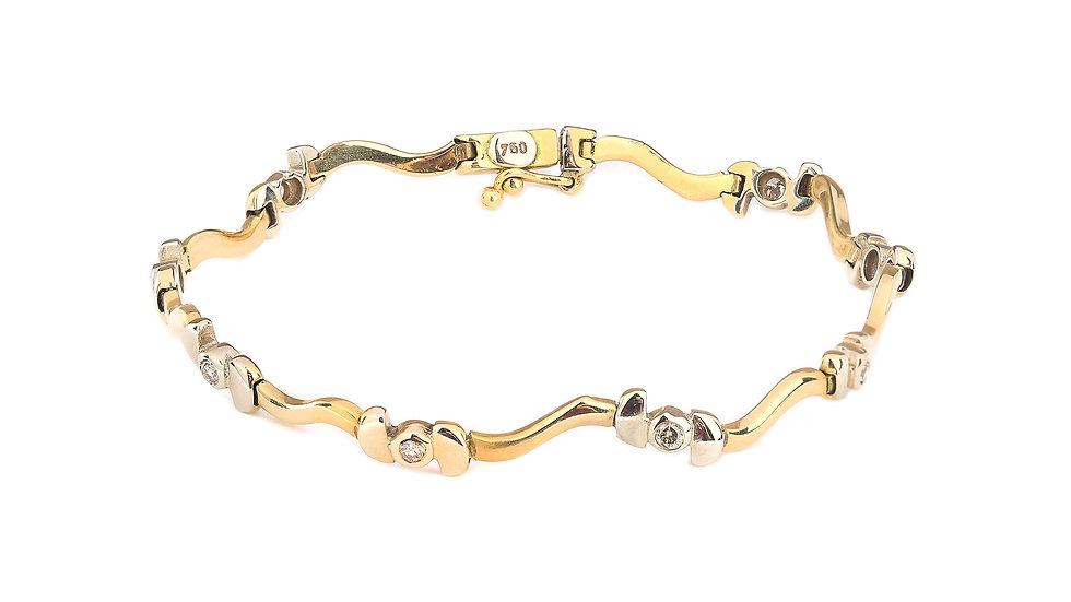 Two Tones Diamond Bracelet