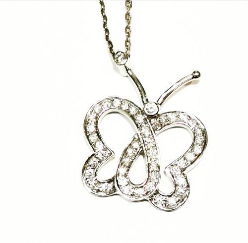 Butterfly Diamond Pendnet