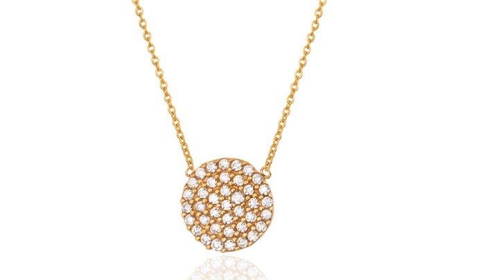 Pave Circle Pendent Necklace