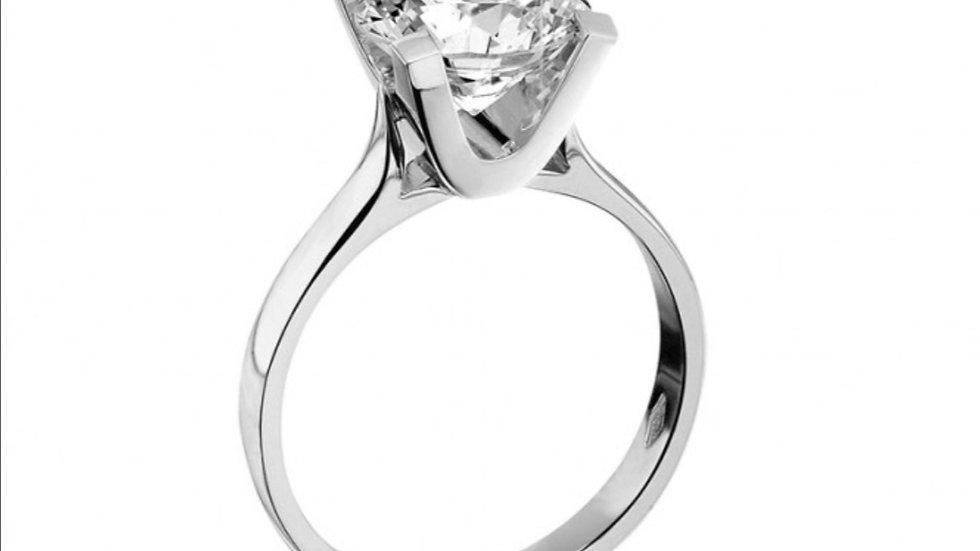 Platinum Solitaire Lab Diamond Ring