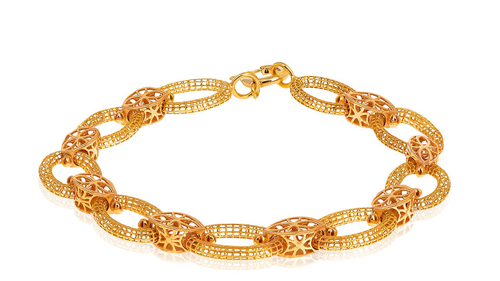 Yellow gold Oval Links
