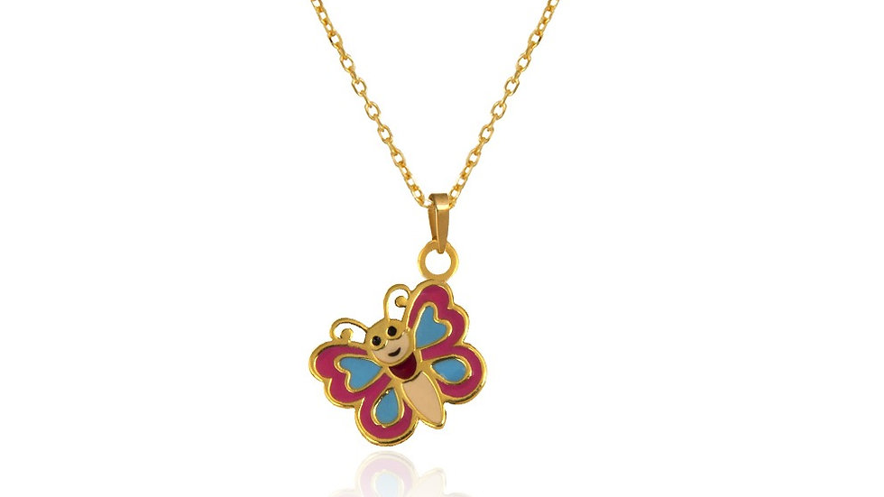Yellow Gold Butterfly Pendent
