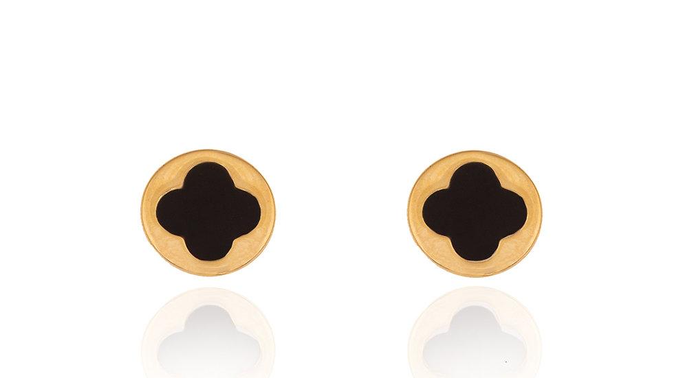 Yellow Gold Clover Earrings