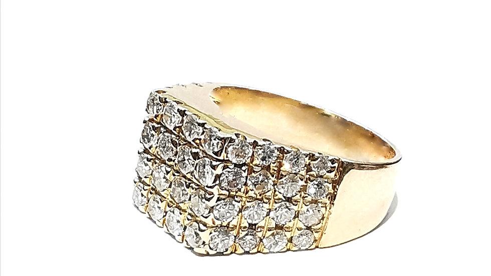 Yellow Gold Men's Diamond Ring.