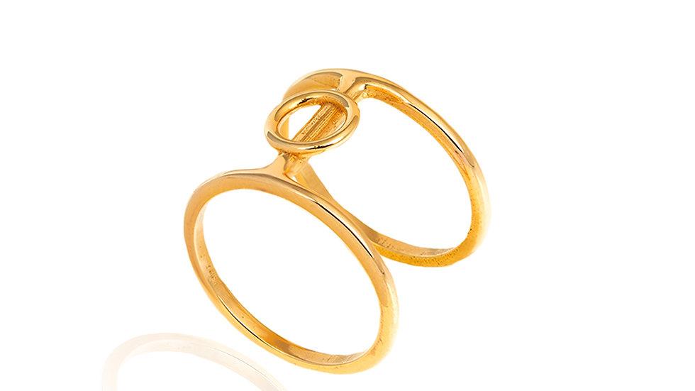 Yellow Gold Ring Geometric Design