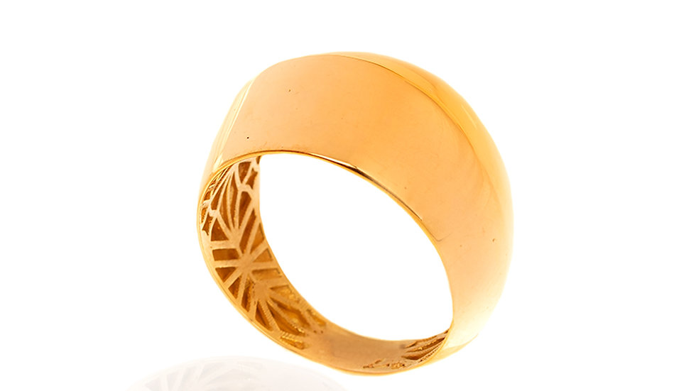 Yellow Gold Dome Shape ring
