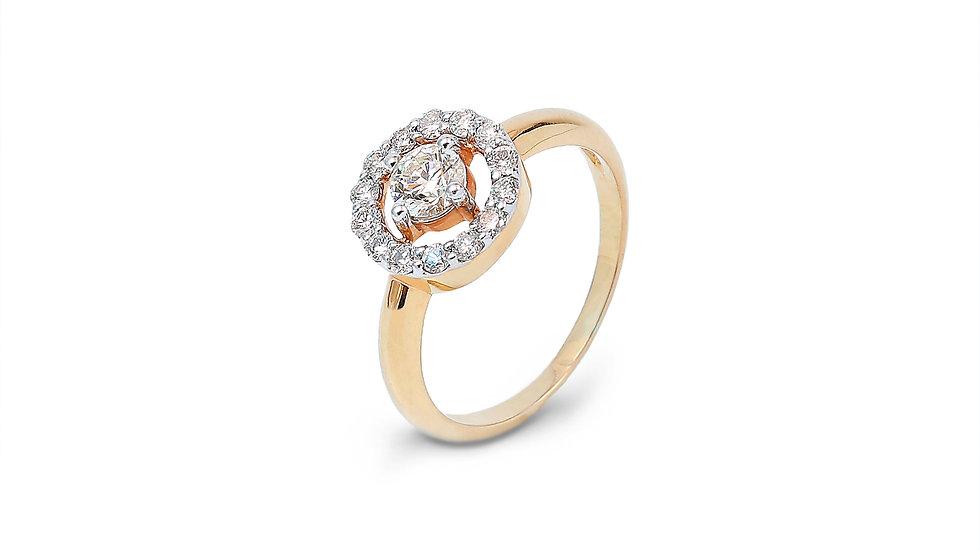 Stone Inside The Circle Diamond Ring