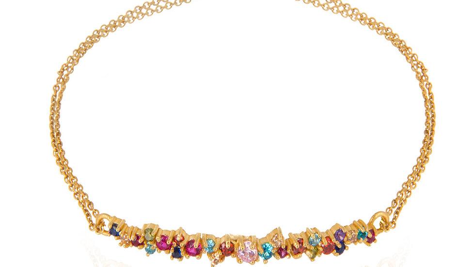 Gold Bracelet with Multicolor stones