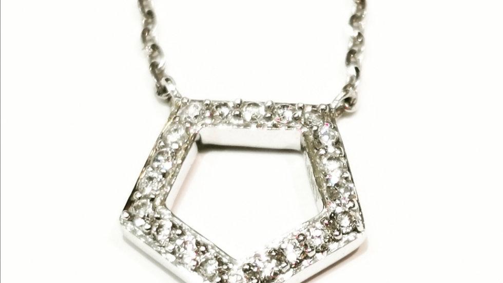Pentagon design Diamond Necklace