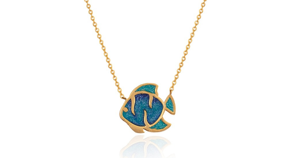Yellow Gold Fish Necklace