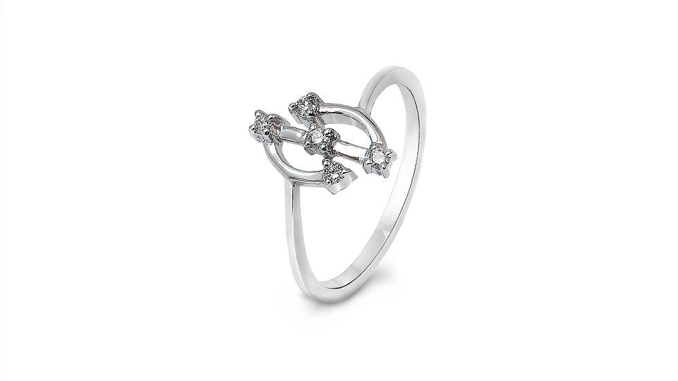 Half Round Circle Diamond Ring