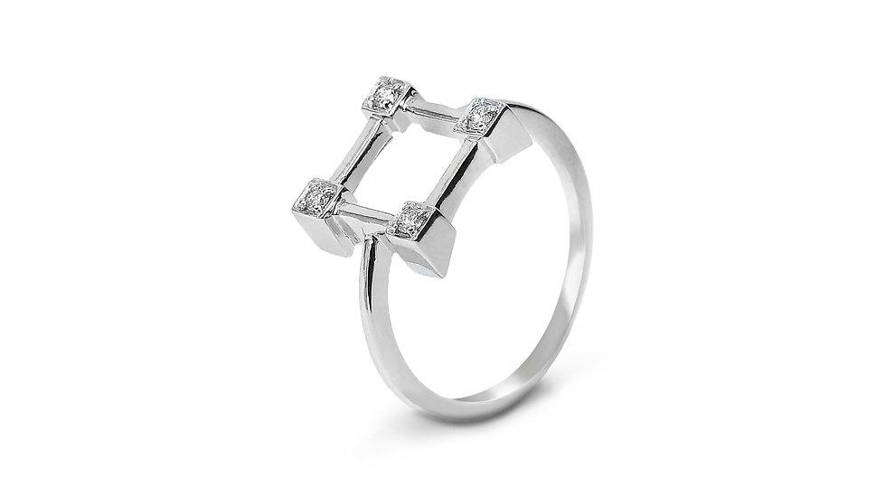 Square Design Diamond Ring