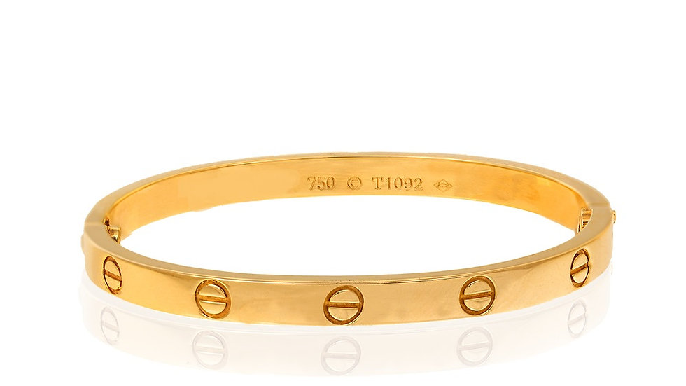 Yellow gold Love Bangle Bracelet
