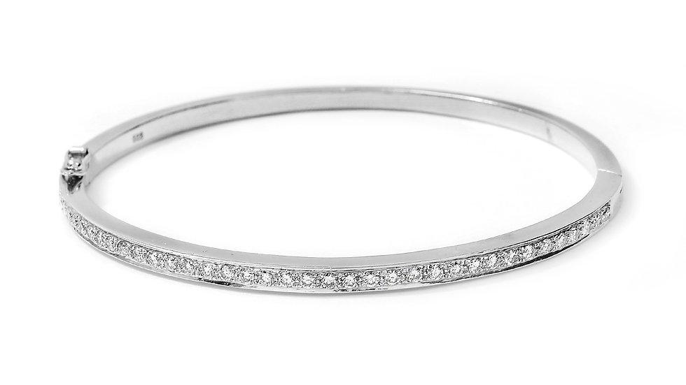White Gold Diamond Bangle Bracelet.