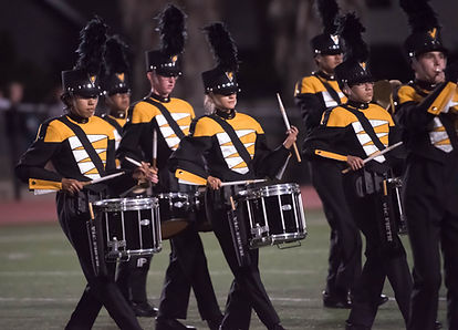 7 MVHS Drummers in a marching band