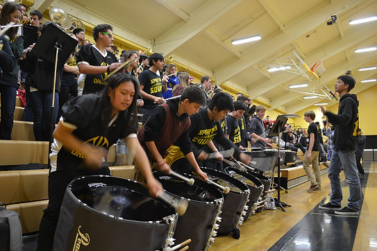 MVHS Spartan Sound Pep Band in Performance