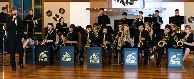 MVHS Jazz Band during performance at the Swing Dance