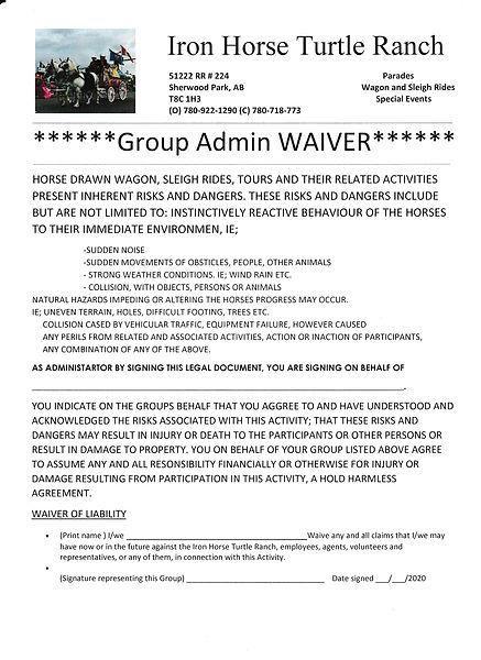 Group Admin Waiver