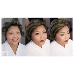 Before & After_Bridal Hair & Makeup _#hair #makeup #artist #design #beauty #bridal #bride #bridesmai