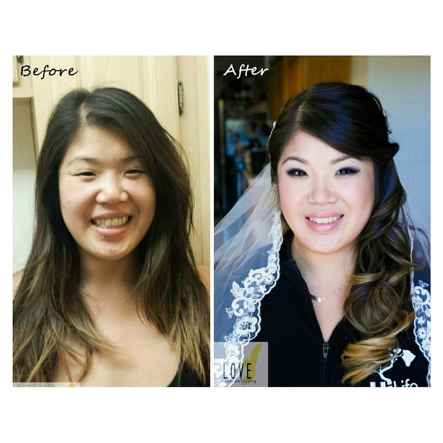 #before and #after #photo - #bridal #hair and #airbrush #makeup__#kett, #mac, #kenra, _anastasiabeve