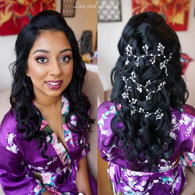 Happy wedding day! 💐_•_Hair & Makeup by _love_and_artistry