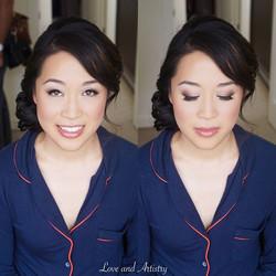 Bridal hair & makeup design for my super sweet junior artist Serena 💗_Huge congratulations to you s
