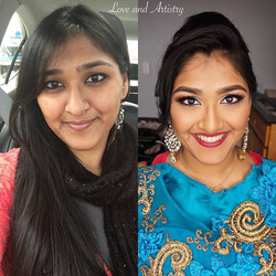 Before•and•After ✨_Bridal Hair + Makeup Trial_