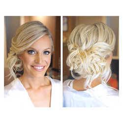 Bridal Hair & Airbrush Makeup Design for this stunning lady - went to middle school together and can