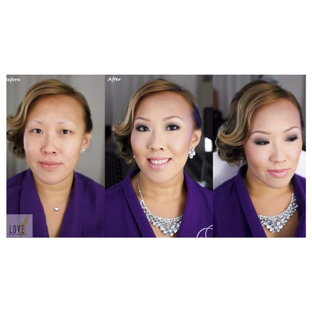 Before & After - #glam makeup design__#hair #makeup #artist #design #beauty #bridal #bride #bridesma